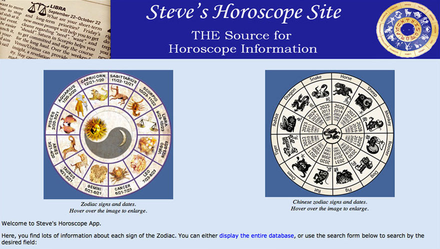 Horoscope Website thumbnail