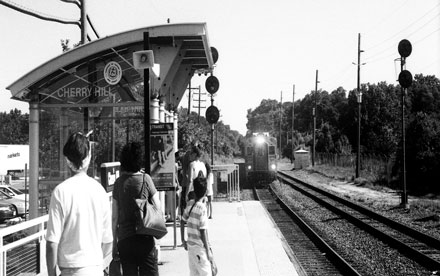 Cherry Hill Station. Kodak Plus-X Black and White Negative Film. Nikon FG.