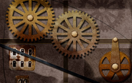 Gears. Photoshop. Digital Illustration.